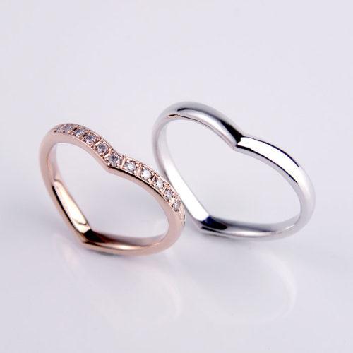 ハートのシルエットが可愛い手作り結婚指輪