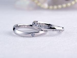 ダイヤが豪華な手作り結婚指輪