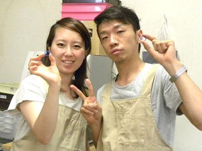 佐藤様の手作り結婚指輪完成