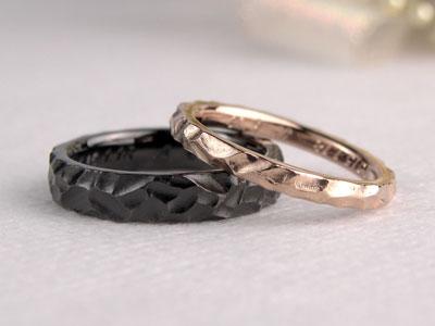 ブラックコート手作り結婚指輪