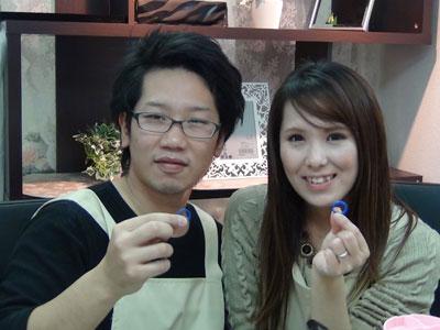 手作り結婚指輪の完成