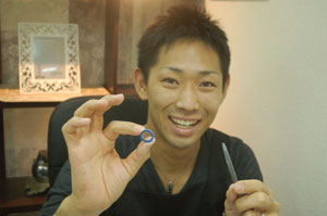 尼崎市から手作り結婚指輪のお客様