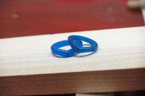 手作り結婚指輪のワックス原型