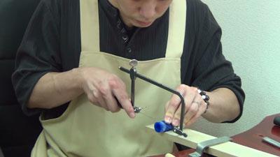 糸ノコ作業