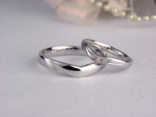 出来上がった手作り結婚指輪