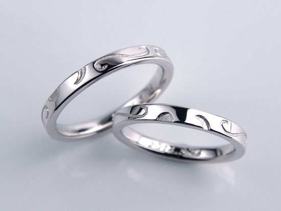 全周唐草の手作り結婚指輪