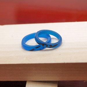 手作り結婚指輪原型