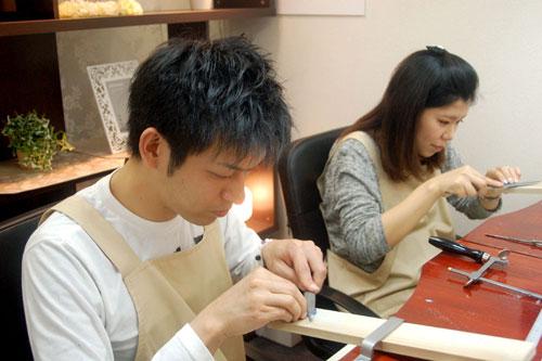 手作り結婚指輪の製作