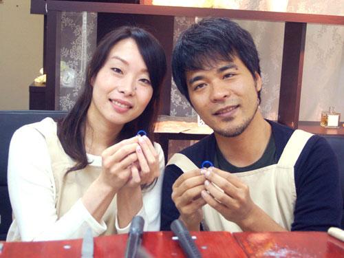 手作り結婚指輪完成