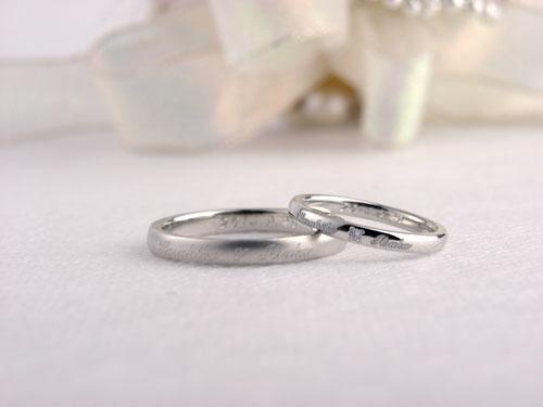 手作り結婚指輪のレーザー彫刻