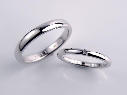 1粒ダイヤ手作り結婚指輪
