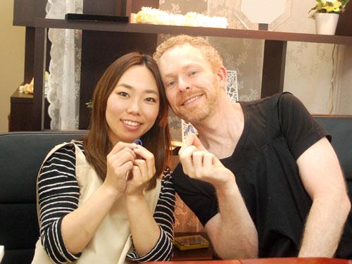 手作り結婚指輪カップル国際結婚