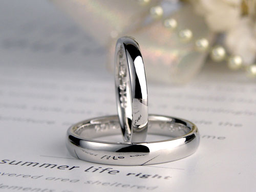 手作り結婚指輪甲丸
