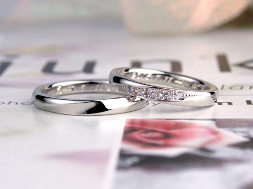 プラチナ手作り結婚指輪