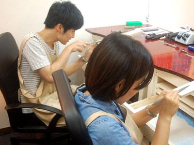 手作り指輪作業