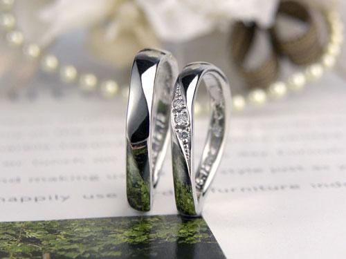 S字型の結婚指輪