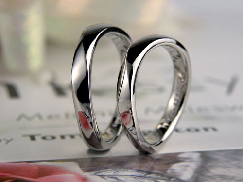 S字型の手作り結婚指輪