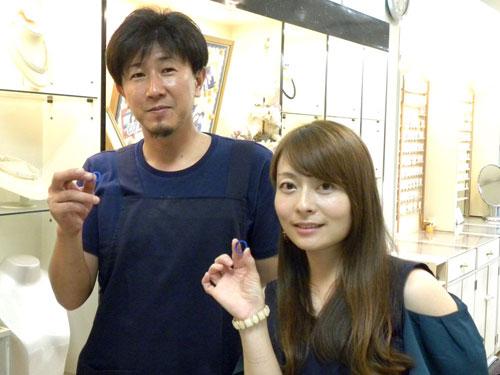 愛媛県の手作り結婚指輪完成