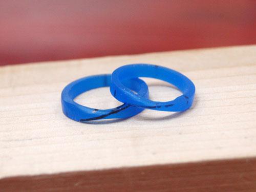 指輪のワックス原型