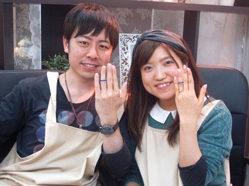 手作り結婚指輪完成です
