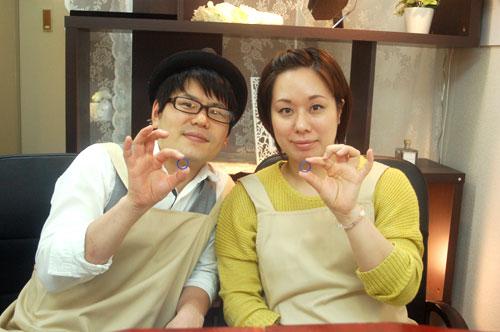 手作り結婚指輪が完成した大阪のお客様