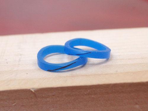 手作り結婚指輪のワックス