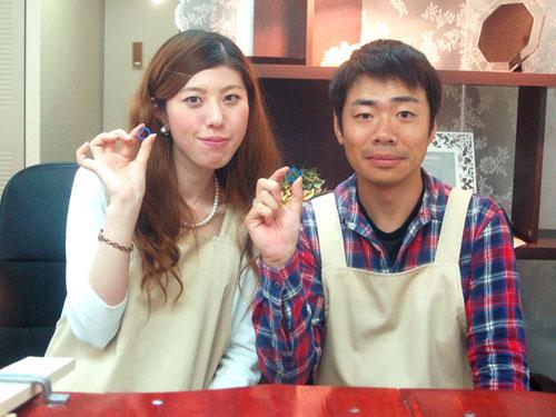 大阪より手作り結婚指輪お客様