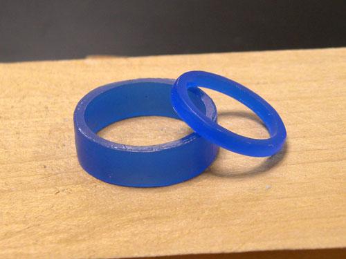 幅広い指輪の原型