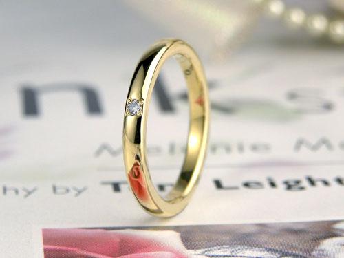手作りイエローゴールド指輪