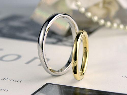 ゴールドとプラチナの手作り結婚指輪
