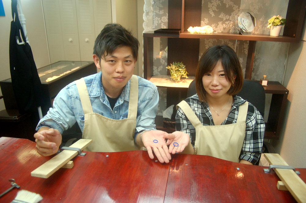 大阪府風元様手作り結婚指輪