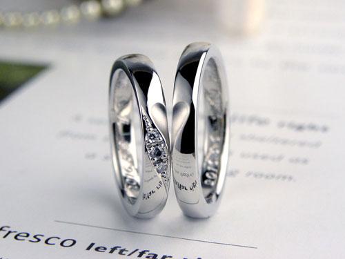 合わせるとハートとダイヤモンド結婚指輪