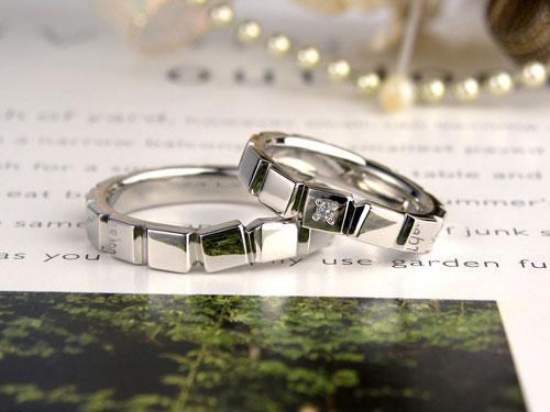積み木のような手作り結婚指輪
