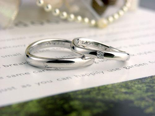 S字型プラチナ手作り結婚指輪
