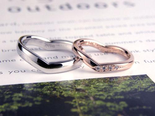 ハートシルエット結婚指輪