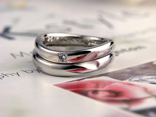 ハート浮き上がる手作り結婚指輪