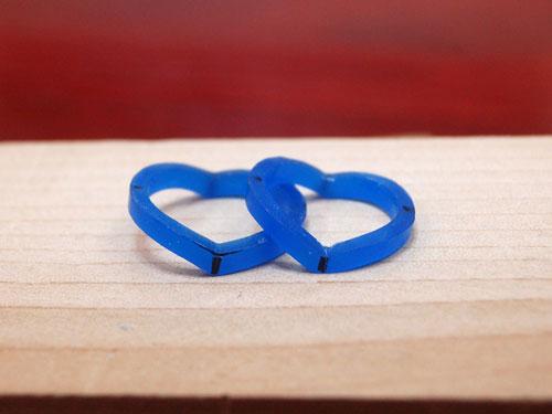 ハートの手作り結婚指輪の原型