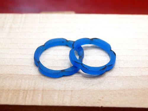花の形の手作り結婚指輪原型