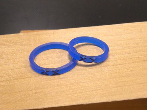 手作り結婚指輪ワックス原型