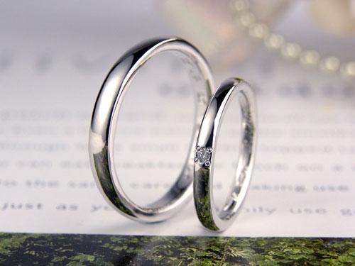 シンプル甲丸結婚指輪