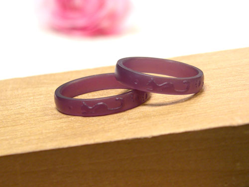 ネコの結婚指輪ワックス原型