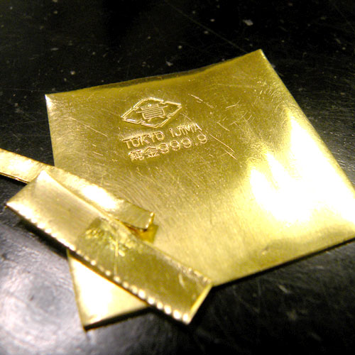 結婚指輪製作のための純金