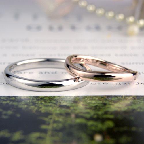 素材も形も違う手作り結婚指輪