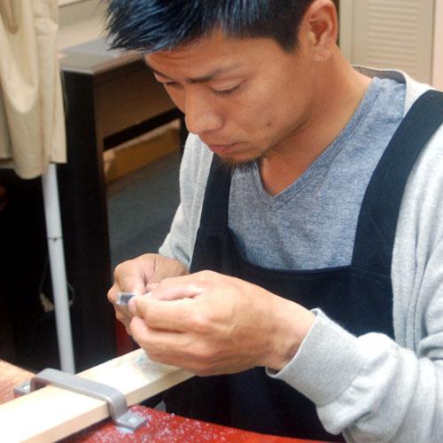 サプライズダイヤリング手作り大阪のお客様