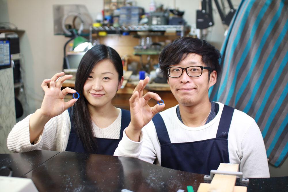 徳島県和田様手作り結婚指輪