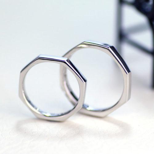 8角形の手作り結婚指輪