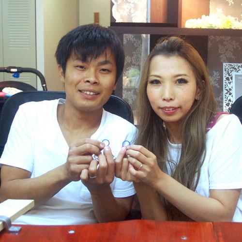 手作り結婚指輪のワックス完成