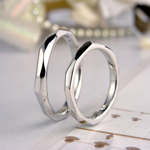 自作でランダムに削った結婚指輪