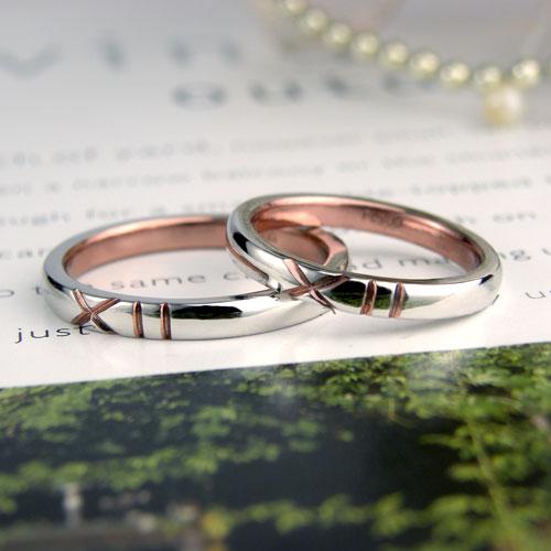 ローマ数字の入った手作り結婚指輪