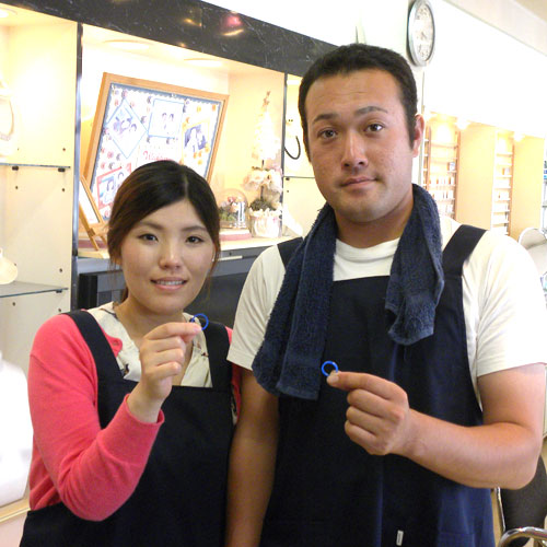 徳島の手作り結婚指輪お客様